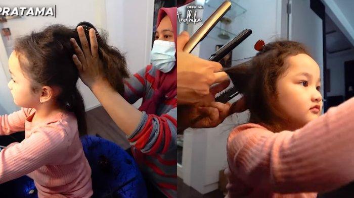 Rambut Sheva mulai dicatok