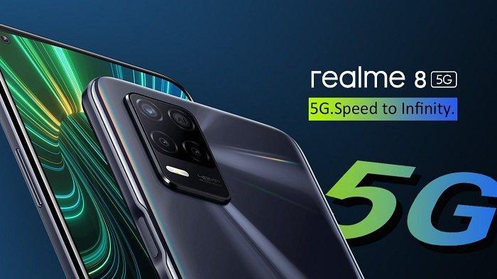 SPESIFIKASI Lengkap Realme 8, Powerfull dan Digadang Jadi Ponsel 5G Termurah Indonesia, Rp 3,2 Juta