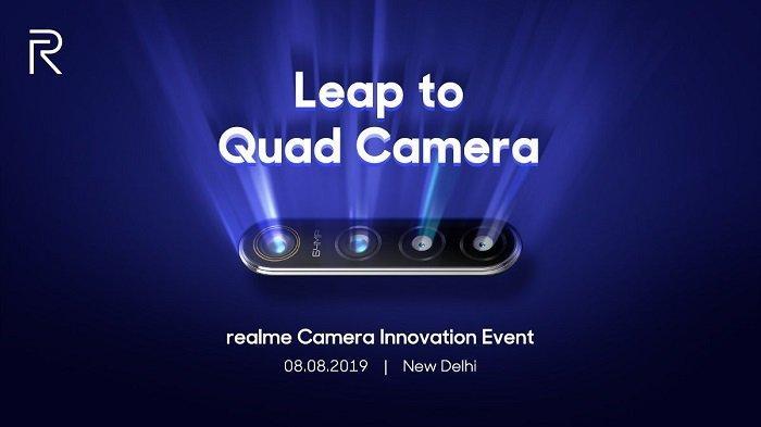 Realme Bakal Perkenalkan Konfigurasi Empat Kamera dan 64 MP Pertama pada Ponselnya Agustus Ini