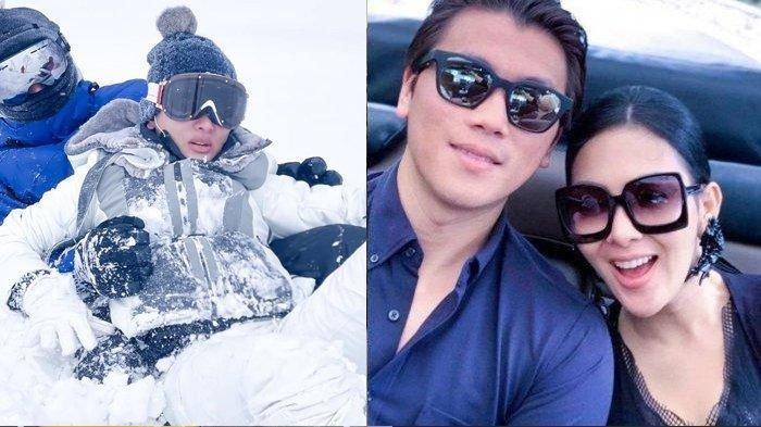 Reino Barack & Syahrini Sama-sama Terperosok di Salju, Tertangkap Kamera Berakhir Adu Bibir