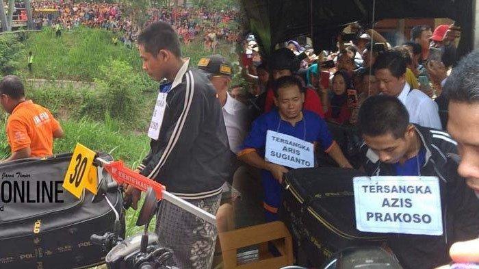 2 Pelaku Pembunuhan Budi Hartanto Tunjukkan Ekspresi Berbeda Saat Rekonstruksi, AS Menangis Terus