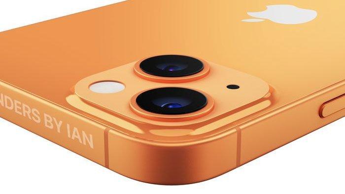 Penampakan iPhone 13 warna perunggu.