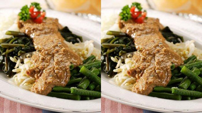 RESEP Masakan Sehat untuk di Rumah, Cara Membuat Pecel Sayuran dan Bumbu Pecel Wangi Daun Jeruk