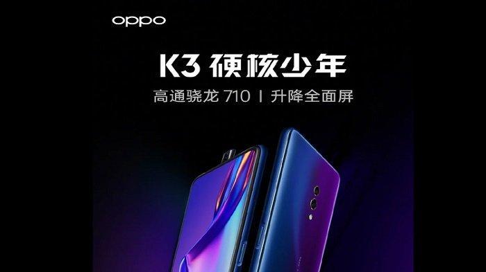 Harga dan Spesifikasi Oppo K3, Ponsel 'Adik' Oppo Reno