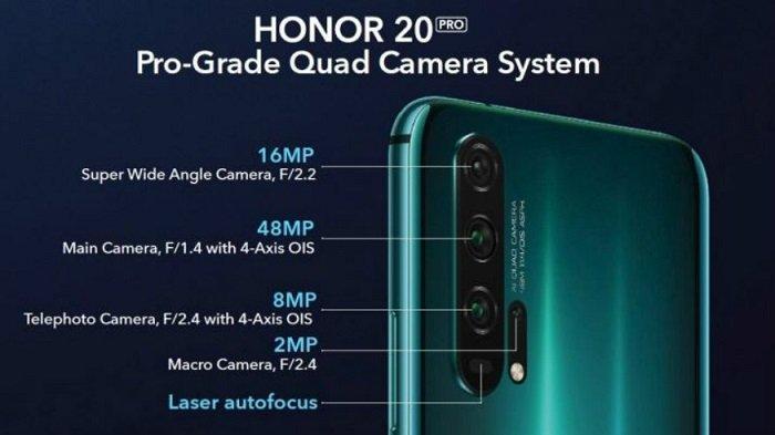 Resmi Diluncurkan, Spesifikasi & Harga Huawei Honor 20 Pro, Lebih Murah, Spek Setara OnePlus 7 Pro