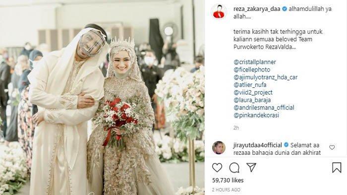 Pernikahan Reza Zakarya dan Valda Alviana.