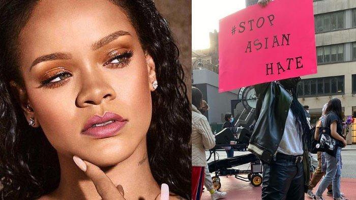 Ogah Diam, Rihanna Ikut Demo hingga Turun ke Jalan, Lawan Kekerasan #StopAsianHate di New York
