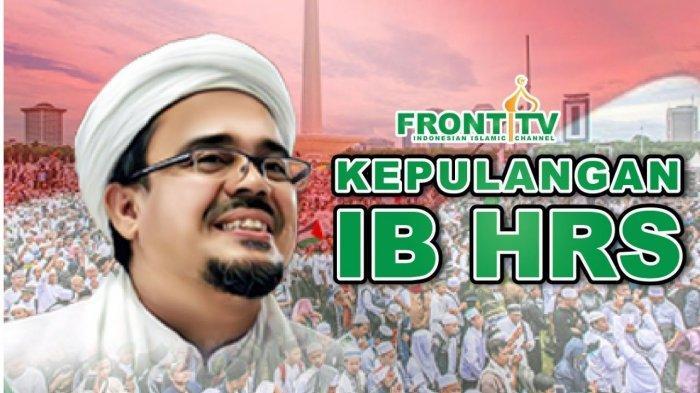 DETIK-DETIK Kedatangan Habib Rizieq di Bandara Soetta, Pakai Tongkat & Masker, Massa Bersholawat