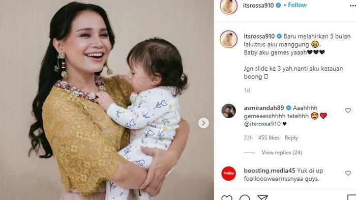 Rossa pamer foto sedang menggendong seorang bayi cantik