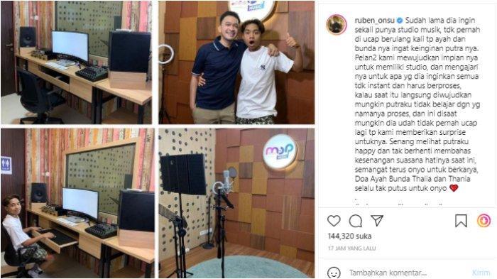 Ruben Onsu beri hadiah studio musik untuk Betrand Peto