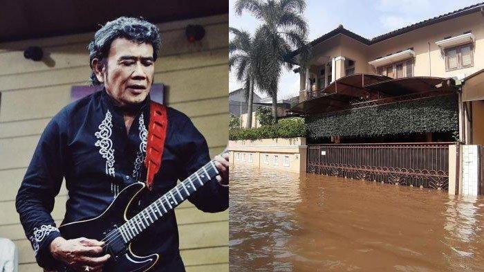 Rhoma Irama Kebanjiran, Air Dalam Rumah Hanya Semata Kaki Tapi di Garasi Capai Lutut Orang Dewasa