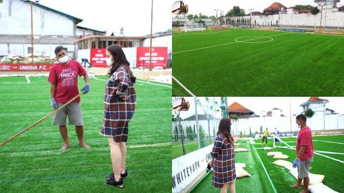 Rumput Abe Mini Stadium pakai standar FIFA