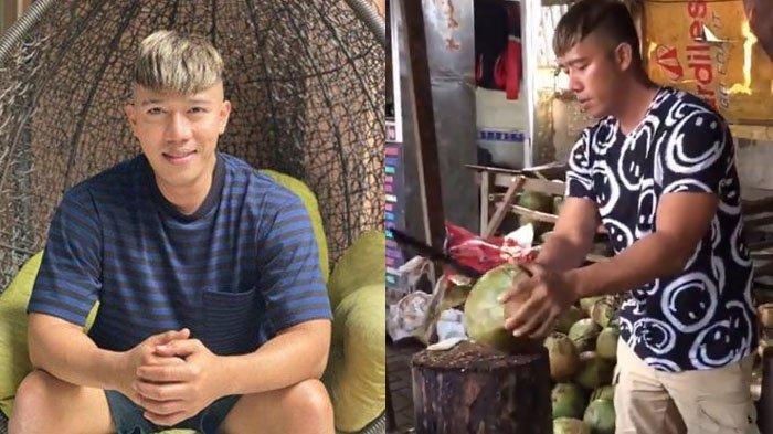 Ruri Repvblik jualan sop buah dan es kelapa muda.