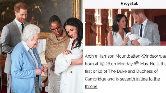 Anak Meghan Markle Secara Tak Sengaja Diperkenalkan sebagai Anak Kate Middleton di Website Kerajaan