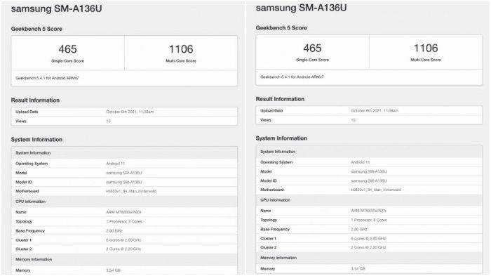 Samsung Galaxy A13 5G.