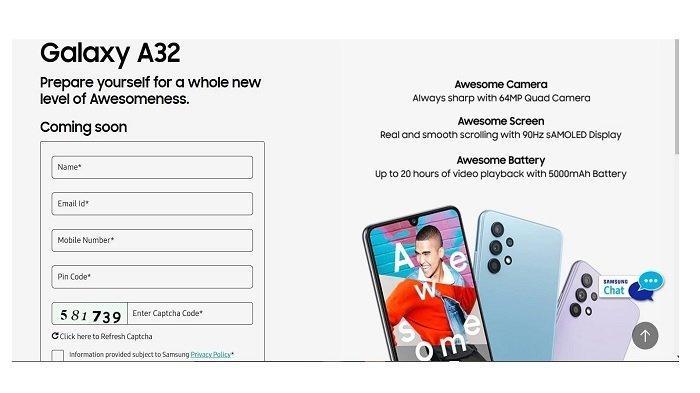 SPESIFIKASI Lengkap Samsung Galaxy A32 4G, Chipset Helio G80, Kamera 64MP, dan Layar Super AMOLED