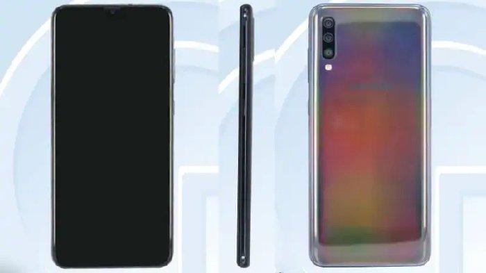 Penampakan Samsung Galaxy A70. (TENAA)