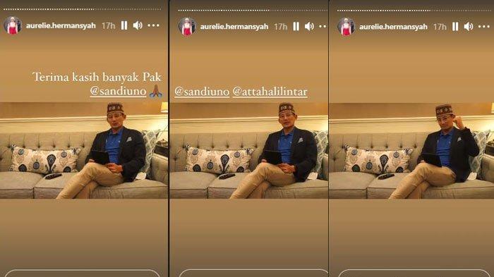 Aurel Hermansyah dapat Kiriman Video Motivasi dari Sandiaga Uno, Istri Atta: Terima Kasih Pak
