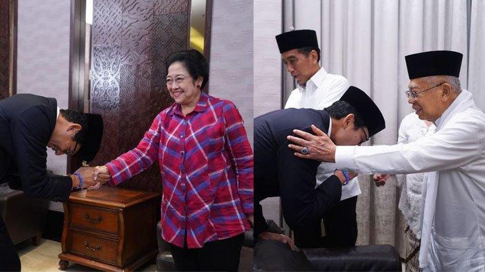 Foto-foto Sandiaga Uno Cium Tangan Megawati hingga Ma'ruf Amin Sebelum Debat Capres 17 Januari 2019