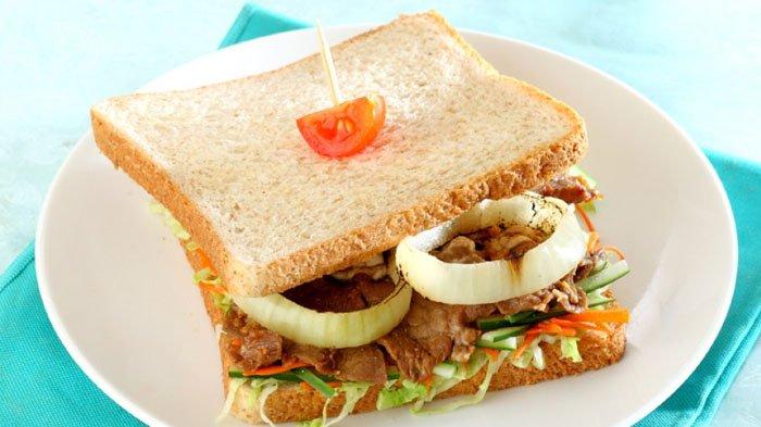 Sandwich Gandum Daging Sukiyaki