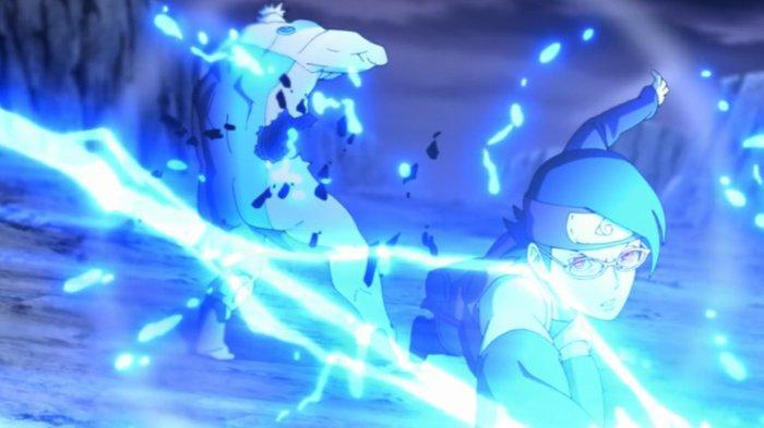 Sarada dalam anime Boruto episode 207.