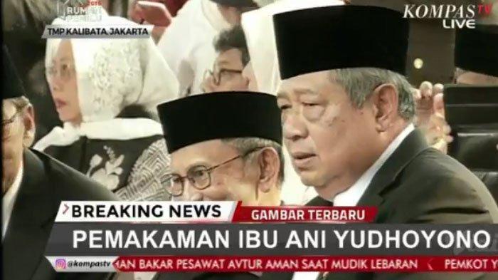 SBY di pemakaman Ani Yudhoyono