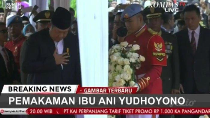 SBY memberikan penghormatan terakhir