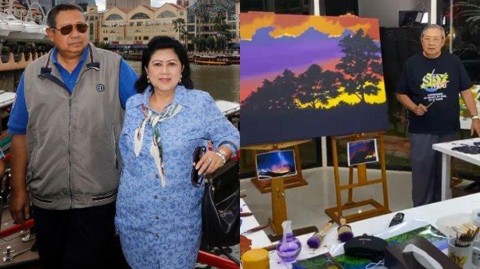 Buat Lukisan Spesial untuk Mendiang Ani Yudhoyono, SBY: Saya Persembahkan untuk Istri Tercinta