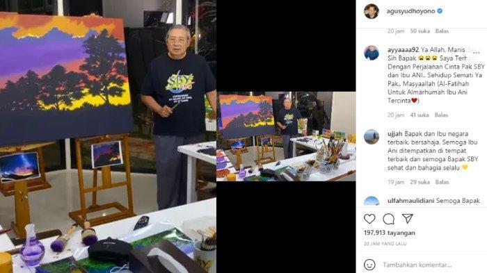 SBY buat lukisan spesial untuk mendiang istri tercinta, Ani Yudhoyono.