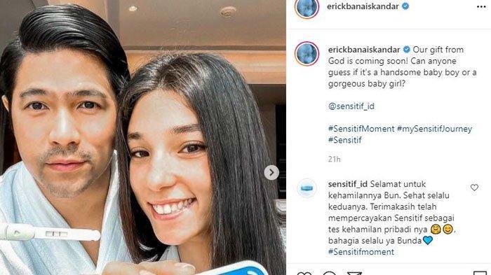 Selamat, Istri Erick Iskandar kini dikabarkan hamil anak pertama