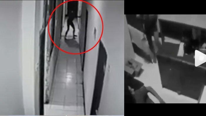 Detik-detik Selebgram Makassar Ari Pratama ditikam pacarnya sendiri.