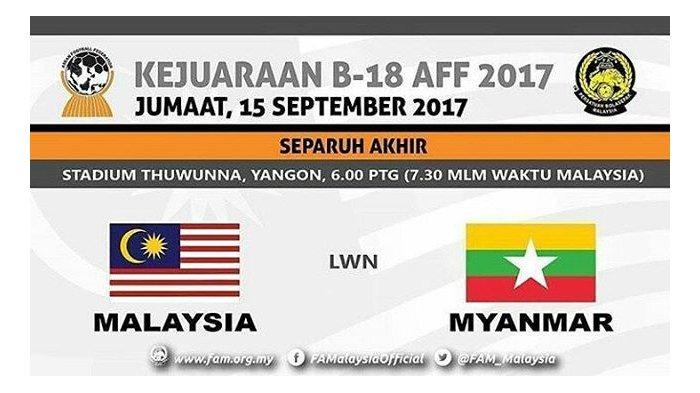 LIVE STREAMING Malaysia Vs Myanmar - Semifinal Piala AFF 2017 di Indosiar, Tonton di Sini!