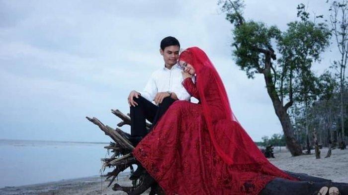 Sebelum Kecelakaan, Widia Wati Foto Prewed Bergaun Merah, Kini Calon Suami Pilu Ditinggal Selamanya