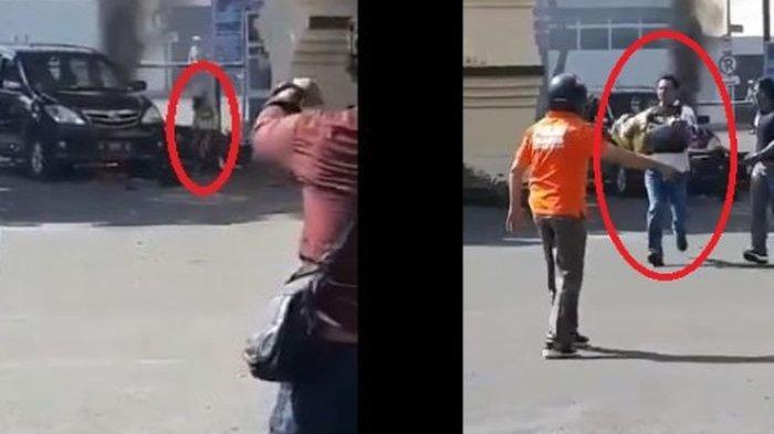 Inilah Sosok Polisi & Alasan Menyentuhnya Gendong Anak Terduga Teroris di Polres Surabaya!