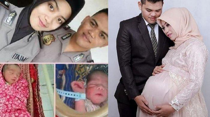 Polwan Cantik Meninggal Setelah Lahirkan Anak Kembar, Curhat Suami Ungkap Kondisi Anak Banjir Doa