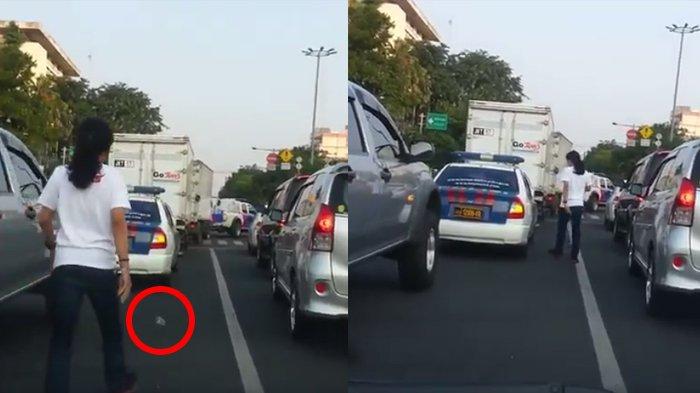 Pengemudi Mobil Patroli Polisi Buang Sampah di Jalan, Lalu Pria Ini Lakukan Hal Tak Terduga, Nyesek!