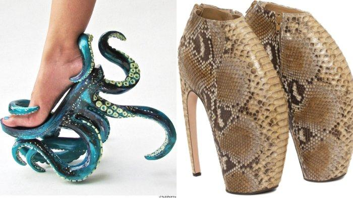 5 Sepatu Hak Tinggi atau High Heels dengan Desain Super Unik Tetapi Berbahaya Saat Dikenakan
