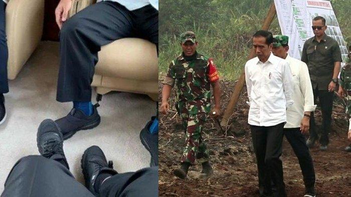 VIRAL Foto Sepatu Presiden Jokowi Sebelum dan Sesudah Kunjungi Lokasi Kebakaran Hutan di Riau