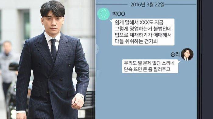 Isi Chat Lawas Seungri Big Bang Bocor, Bicara Soal Suap hingga Remehkan Hukum Korea yang Bisa Diatur