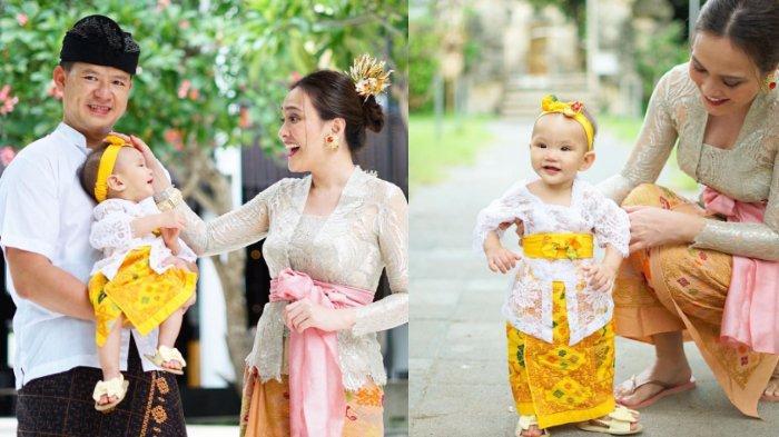 Shandy Aulia dan keluarga kecilnya kompak kenakan baju adat Bali