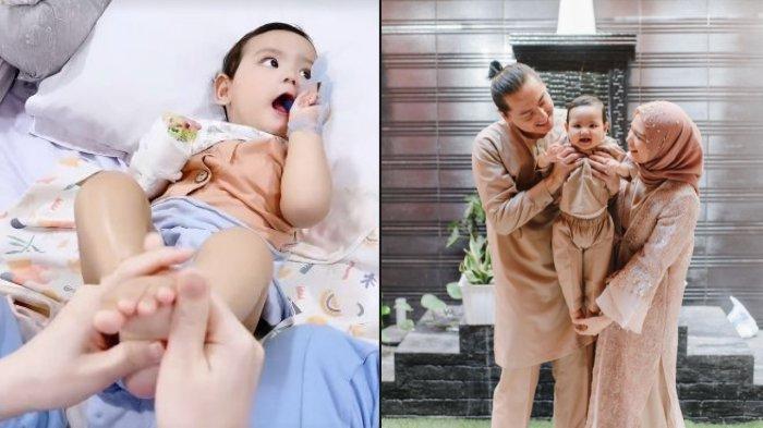 Baby Shaquille Terbaring Lemas dengan Tangan Diinfus, Cut Meyriska Mohon Doa untuk Sang Anak