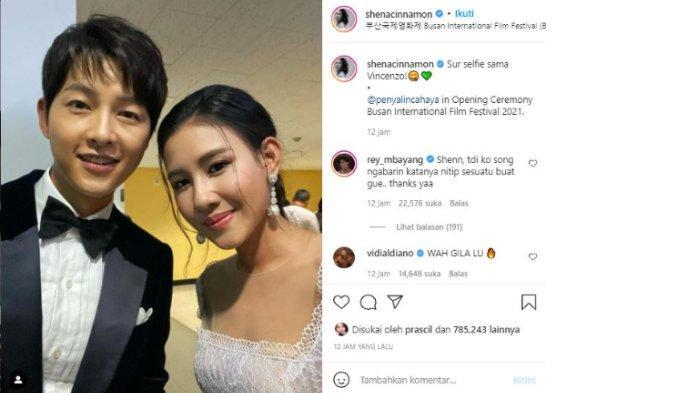 Shenina Cinnamon pamer foto selfie bersama Song Joong Ki