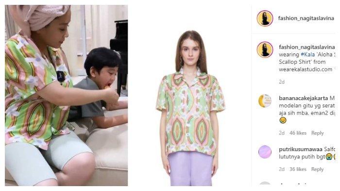 Shirt santai Nagita Slavina