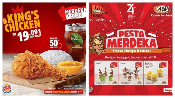 Simak Promo dan Diskon pada Hari Kemerdekaan Indonesia 17 Agustus dari Berbagai Outlet Makanan