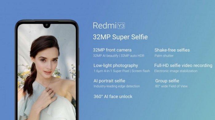 Siap Rilis 3 Mei di India, Simak Spesifikasi Xiaomi Redmi Y3, Kamera Selfi 32 MP Terbaik di Harganya