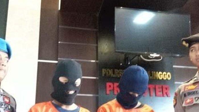 Kedua pelaku MWS dan MMH diamankan Polisi