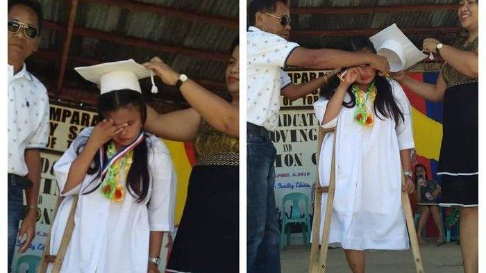 Kisah Haru Siswi Berjalan 4 Km dengan Satu Kaki untuk Sekolah, Akhirnya Lulus dengan Gemilang!
