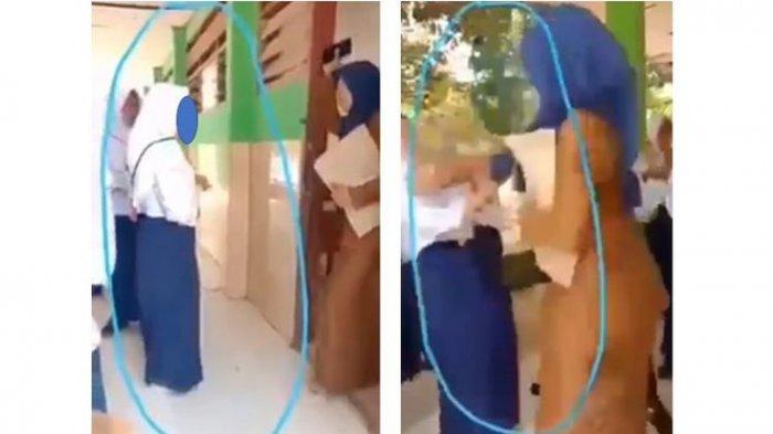Viral Video, Ketahuan Bawa HP Saat Ujian, Siswi Berkelahi Dengan Gurunya, Ketakutan Malah Pingsan