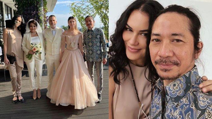 Sophia Latjuba menghadiri pernikahan sang mantan suami bersama gitaris Slank, Abdee Negara