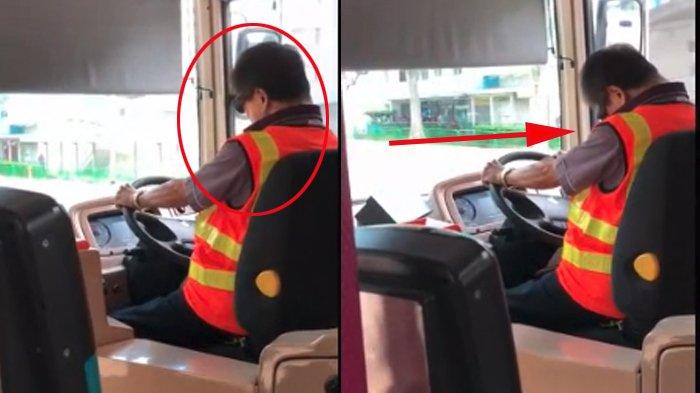 Penumpang Mengira Sopir Bus Tidur saat Mengemudi, Bikin Takut, tapi Netizen Kaget usai Lihat CCTV